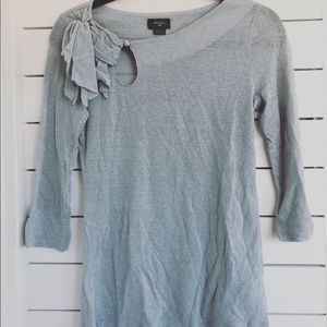 Shimmery silver shirt